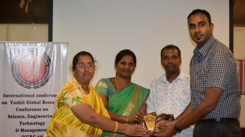 Best Researcher Award under Health Management Track